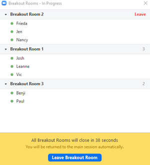 Breakout room example