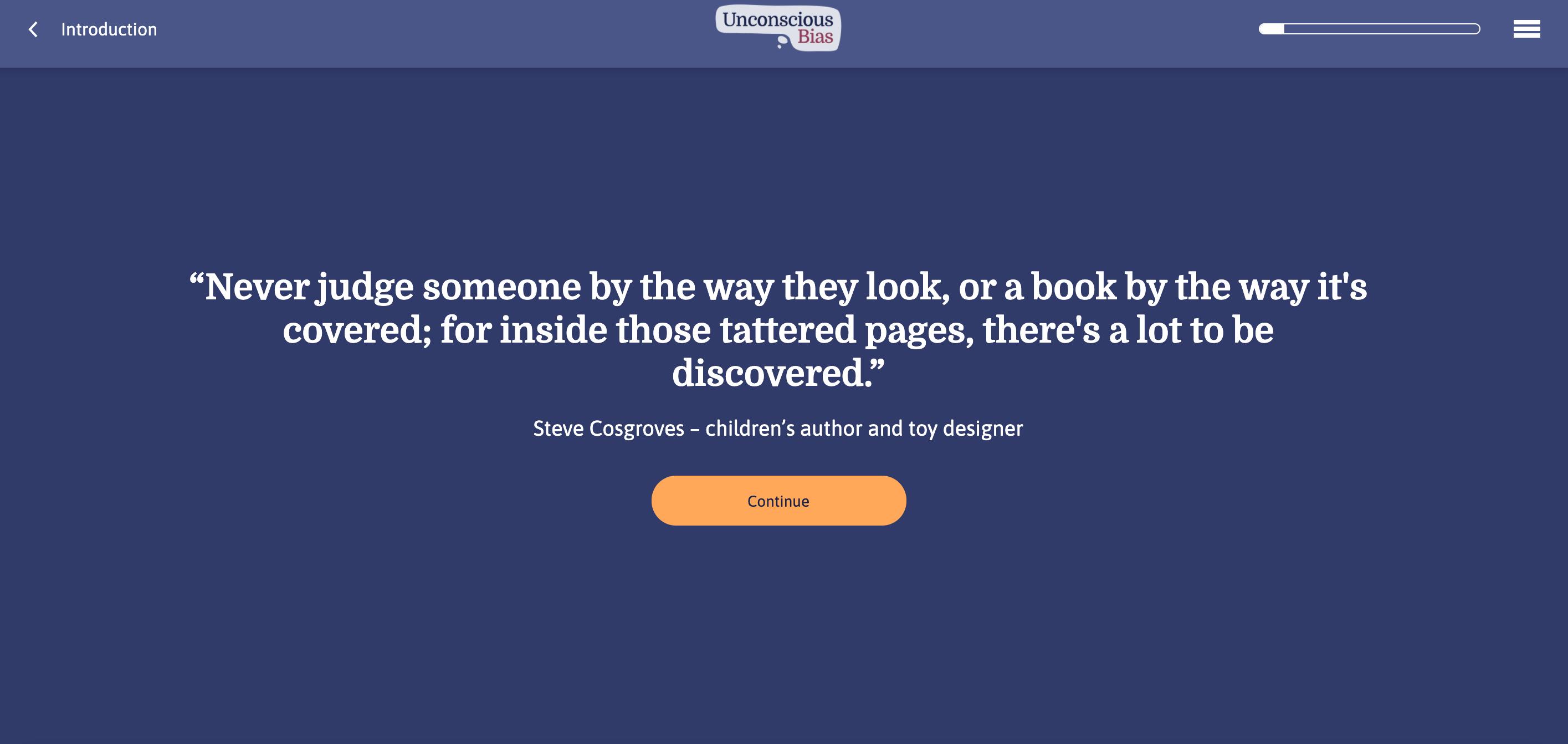 Unconscious Bias Quote Screenshot