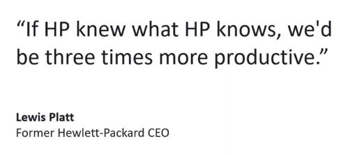 HP Quote on productivity